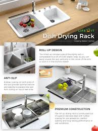 Stainless Steel Dish Drying Rack Alessi Stainless Steel Tempo - Kitchen sink drying rack