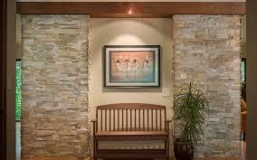 ledgestone fireplace entryway