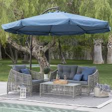 Outdoor Patio Canopy Gazebo by Navy Blue 11 Ft Offset Steel Patio Umbrella Gazebo Canopy With