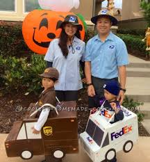 Tow Mater Halloween Costume Ups Fedex Usps Family Costume Working