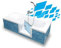vasca da bagno con seduta vasca con sportello remail