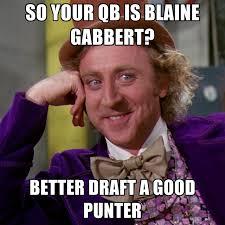 Blaine Gabbert Meme - so your qb is blaine gabbert better draft a good punter create