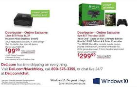 xbox one prices on black friday black friday dell leak includes 300 xbox one gears of war fallout