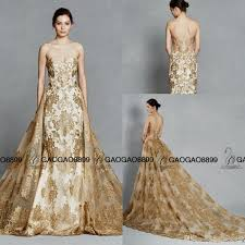 gold wedding dresses faetanini gold color embroidery detachable royal