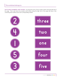 all worksheets number matching worksheets 1 10 printable