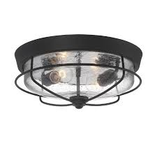 Portfolio Track Lighting Replacement Parts by Shop Portfolio Valdara 14 5 In W Matte Black Outdoor Flush Mount