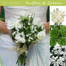 diy wedding bouquet diy wedding bouquet ruffles and greens fiftyflowers the