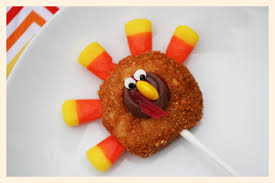 thankgiving turkey donuts popsicle