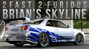 nissan skyline r34 paul walker fast u0026 furious pack 1 my custom wheels decals