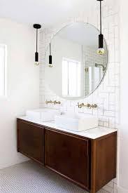 bathroom vintage bathroom lighting wall mirror white round