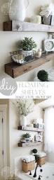 diy floating shelves and bathroom update shelves room and house