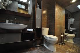 gorgeous small bathroom design with no tub using frameless clear