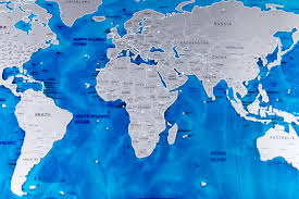 World Scratch Map by Luxury Edition Ocean World Map New Design Ocean Deluxe Scratch Map