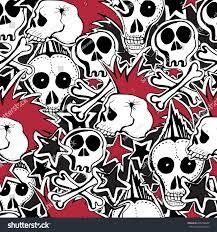 Punk Home Decor Royalty Free Seamless Pattern Crazy Punk Rock U2026 606748604 Stock