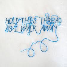 undone the sweater song lyrics rock typography embroidery blue thread lyric stitch weezer