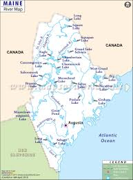 Montana River Map by Maine Rivers Map Rivers In Maine