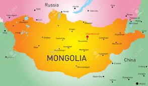 Mongolia Map Vector Map Of Mongolia Country Royalty Free Cliparts Vectors And