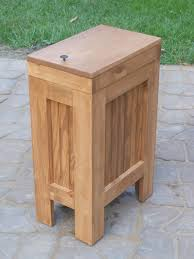 Designer Kitchen Trash Cans by Wood Wooden Kitchen Trash Can Wastebasket Recycling Bin