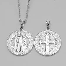 catholic necklaces aliexpress buy silver st barbe pendant necklaces catholic