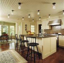 Kitchen Ceiling Light Beautiful Lighting Under Wooden Cabinets Black Cover Pendant Lamps