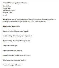 resume accounting manager financial manager resume 7 free word excel pdf format