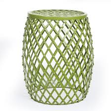 Outdoor Metal Side Table Amazon Com Joveco Stylish Metal Drum Wire Round End Table Side