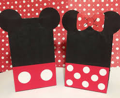 mickey mouse favor bags mickey mouse minnie mouse inspired birthday by planningwithjacen