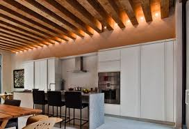 pop open kitchen bar counter interior design