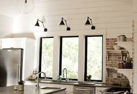 wall mounted kitchen lights wall mounted light over kitchen sink using small l shades also