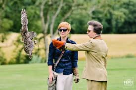 hrh princess anne visits the international centre for birds of
