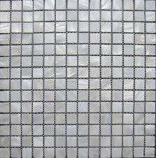 lustre mosaico wall tiles pure white mother of pearl shell mosaic