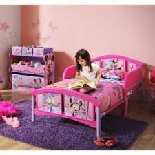 contemporary kids bedroom with disney minnie mouse convertible