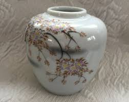 Ginger Jar Vase Floral Ginger Jar Etsy