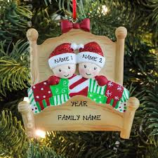 bed heads couple our first christmas family of 2 personalized