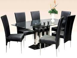 Dining Room Chairs Chicago Furniture Furniture Rectangular Glass Zyinga Minimalist Glass