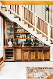 Kitchen Storage Cabinet Cabinet Below Stairs Fancy Green Glass Jar Dark Brown Counter