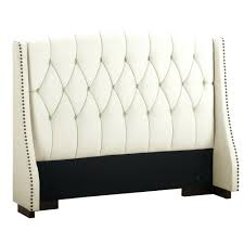 Silver Metal Headboards by White Leather Tufted Headboard U2013 Lifestyleaffiliate Co