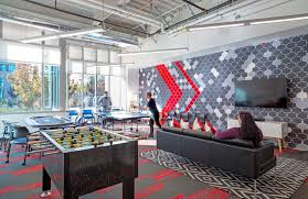design blitz finishes comcast office in red
