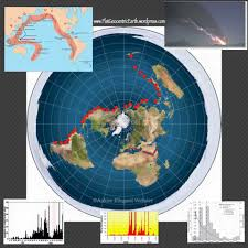 Flat World Map Ring Of Fire Earthquakes On The Flat Earth U2013 Flat Geocentric Earth