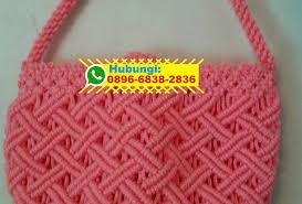 cara akhir membuat tas dari tali kur tas tali kur motif loreng 0896 6838 2836 wa tali kur