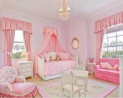 Pink Flower Curtains Little Girls Bedroom And Soft Pink Colors Also Cute Girly