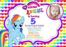 Example Of Birthday Invitation Card My Little Pony Birthday Invitations Dhavalthakur Com