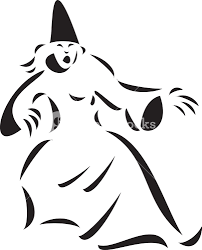 illustration of a scary horrible witch royalty free stock image