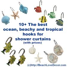 Tropical Beach Shower Curtains by 10 Best Ocean Beachy And Tropical Hooks For Bathroom Shower