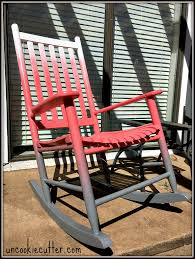 Red Rocking Chairs Ombré Rocking Chairs How To Create The Perfect Ombré Uncookie