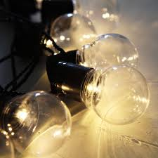g40 string lights with 20 g40 clear globe bulbs listed for indoor
