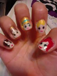 disney princess nail art by pandapandaprincess on deviantart