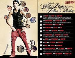 justin bieber site all of justin bieber u0027s tattoos