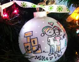 First Christmas Personalized Ornaments - first apartment etsy