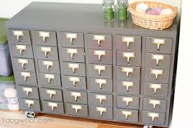 Library Catalog Cabinet Repurposed Card Catalog Reveal One Dog Woof